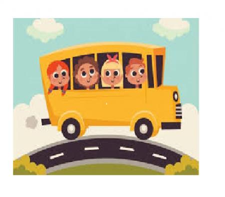 Odjazdy autobusu szkolnego.